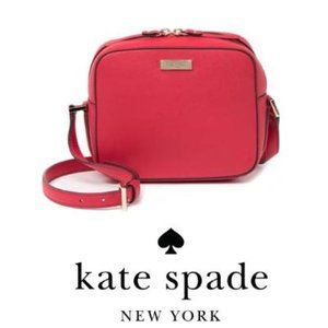 kate spade new york Red leather Crossbody Bag NWT